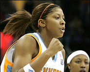 The University of Tennessee's Candace Parker is one of the best women's college basketball players.