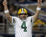 After 17 years, Brett Favre of the Green Bay Packers retires from football.