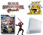Get the scoop on a free Wii, Star Wars previews, Super Smash Bros. Brawl and the first ever Cheerleading video game!