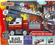 Matchbox and Mattel present the Mega Rig Blaze Brigade.