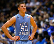 Tyler Hansbrough and his North Carolina Tar Heels face Kansas in the Final Four this weekend.