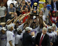 The Kansas Jayhawks defeated the Memphis Tigers to win the 2008 NCAA Championship.