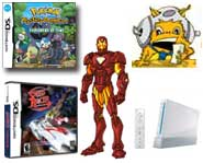 Check out the facts on a free Wii, Iron Man and Pokemon videos, Speed Racer and Spider-Man previews and big news for The Sims!