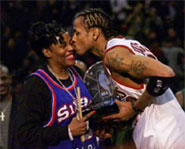 One of basketball star Allen Iverson's biggest fans is his mom Ann Iverson.