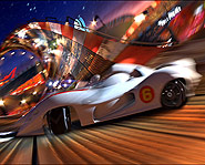 Speed Racer features intense racing action on crazy futuristic tracks.