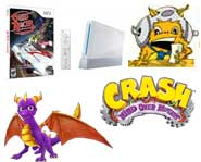 We have previews of Speed Racer and Spyro, contests for a free Wii and Crash Bandicoot, plus the 411 on Nintendo's new WiiWare!