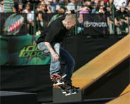 Jereme Rogers is one of the flashiest skateboarders on the AST Dew Tour.