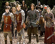 The Pevensie children and their new friend, Prince Caspian, wage war against the evil King Miraz.