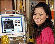 Miranda Cosgrove stars in iCarly, and even sings the theme-song.