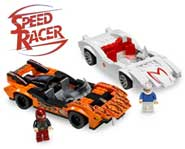 Build Speed Racer and Snake Oiler's cars from the Speed Racer movie with this LEGO kit. Here's our toy review.