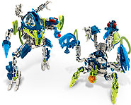 The newest NEO Shifter set can create five different robot configurations.