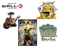 Get the scoop on winning a free Wii, a new Hulk video, WallE games, Greenpeace, Samba de Amigo and Death Jr.!