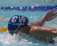 Even with asthma, Kaitlin Sandeno set world records in swimming.