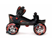 Skorpion Sktes allow you to get a rollerblade type ride with the comfort of your own shoes.