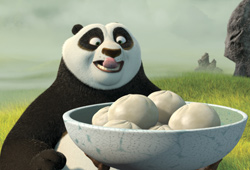 Kung Fu Panda features the voices of Angelina Jolie and Jack Black.