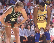 The Celtics and Lakers rivalry was huge in the 1980s.
