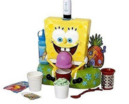 The SpongeBob SquarePants Deluxe Ice Cream Server and Sno-Cone Maker is two toys in one.