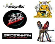 We have videos of Guitar Hero and Spider-Man, the 411 on Neopets, a Space Chimps preview and an art contest!