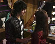 Joe Jonas and Demi Lovato star in the Disney Channel Original Movie, Camp Rock.