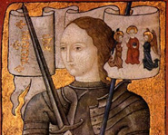 Joan of Arc led the French army into battle as a teenager.