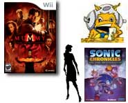 Get the scoop on a new Guitar Hero, Sonic's website, Mummy movie game, Nancy Drew's new mystery, Golf and Space Chimps!