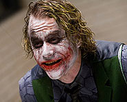 Heath Ledger stars as the Joker in the Dark Knight.