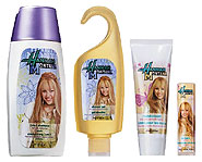 The Hannah Montana Bath & Body Collection is available exclusively at Avon.
