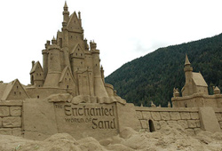 Competitors show off their talents at sandcastle competitions around North America.