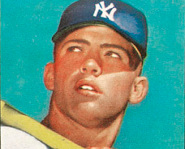 New York Yankee Mickey Mantle's 1952 Topps rookie card