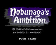 Samurai battles commence in the classic SNES strategy game, Nobunaga's Ambition.