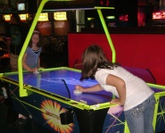 Air Hockey at the ESPN Zone