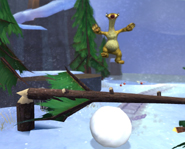 Ice Age 3: Dawn of the Dinosaurs screen of Sid Jumping over a Branch