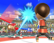 Wii Sports' Sword Duel Game
