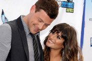 Lea Michele and Cory Montieth