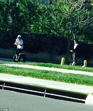 Justin and Selena were spotted segwaying together in California