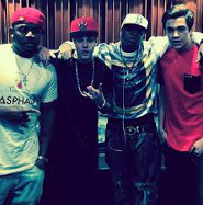 Justin and Austin with Birdman and Mack Maine