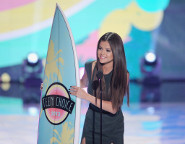 Selena Gomez took home a surfboard last year