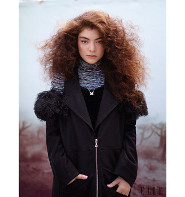 Lorde looks beautiful in black for Elle