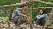 Dylan O'Brien and Kayla Scoderlario in TMR