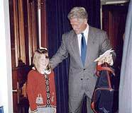 Makenzie meets former president Bill Clinton.