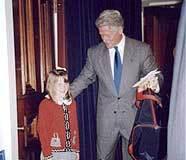 Makenzie meets former president Bill Clinton.