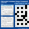 Christmas Songs Crossword