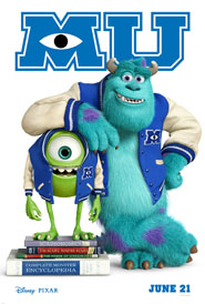 New Poster for MONSTERS UNIVERSITY!