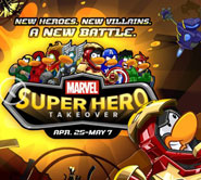 Club Penguin Members Suit Up as Marvel Super Heroes!