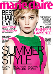 Jennifer Lawrence: Marie Claire Cover Girl