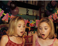 The Olsen twins on their 13th birthday.