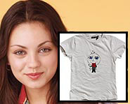 Mila Kunis designed her own t-shirt.