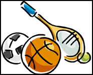 Sports equipment can be found all over an athlete's room.