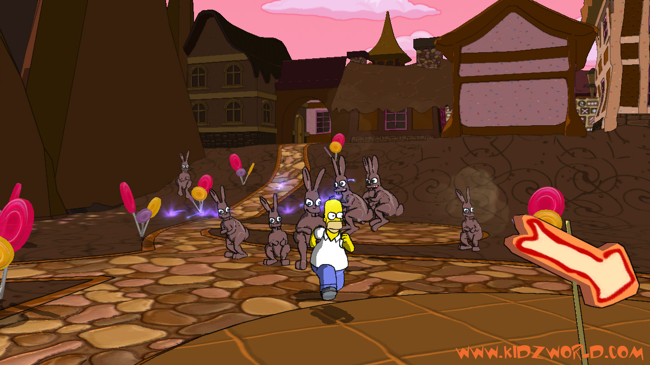 The Simpsons Game Homer Marge Bart Lisa Videogame Movie Xbox 360 Ps3 Wii Ps2 Psp Ds Multiplayer Cartoon
