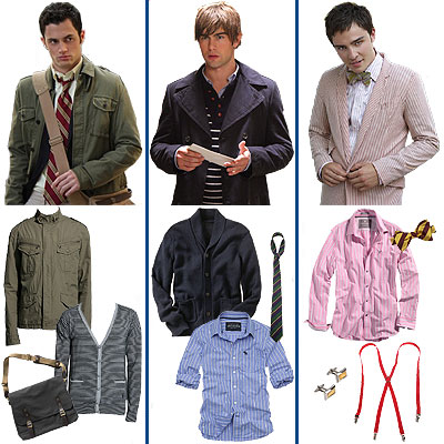 Get the look of the guys from Gossip Girl!